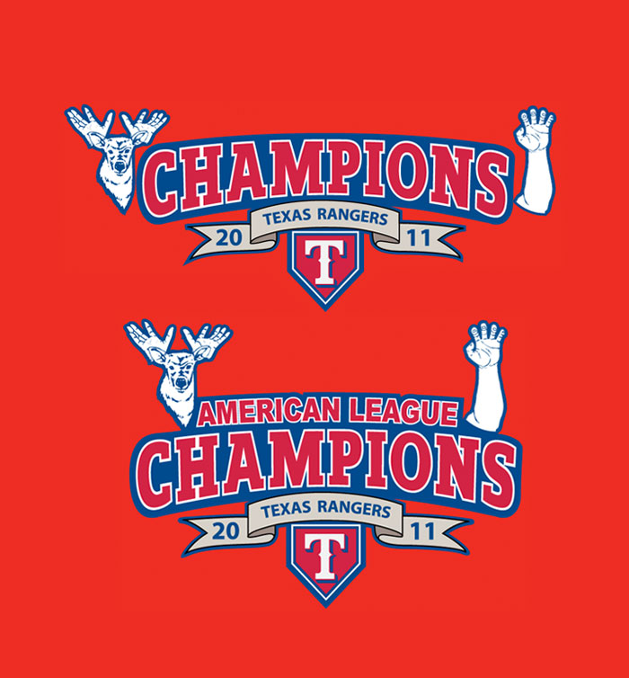 Texas Rangers League Champions 2011-4